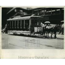 1917 Press Photo New York Old Fashioned belt line horse car - nera12295