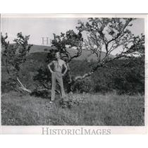 1952 Press Photo Capt. Richards Bleie West No 1 Air base - ora72122