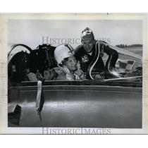 1962 Press Photo Flyboy Leverett Richards, Lt. Hank Giedzinski-Navy Blue Angels