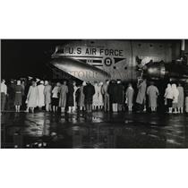 1957 Press Photo  C-124 air forces cargo-penguin carrier - orb98215