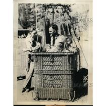 1934 Press Photo Maj. William E. Kepner and Capt. Orvil A. Anderson - orb99922
