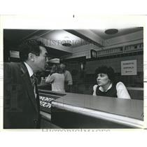 1985 Press Photo Linguist Tina Mitilinakis O'Hare - RRR21189