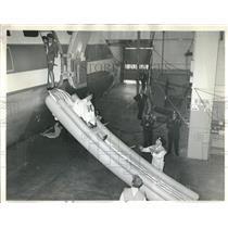 1964 Press Photo aircraft evacuation demonstration - RRR22691