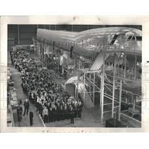 1967 Press Photo Boeing 747 Plane Construction Factory - RRR38643