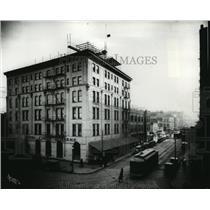 1924 Press Photo Coeur d'Alene Hotels looking south on Howard street - spx10261