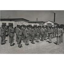 1954 Press Photo Civil Air Patrol Cadets in final assembly before evening call.