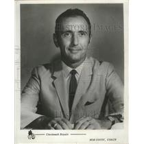 1971 Press Photo Bob Cousy, Coach of the Cincinnati Royals Basketball Team