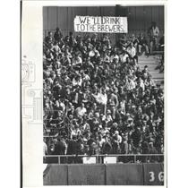 1970 Press Photo Crowd at the Milwaukee Brewers 1970 Opening Day - mjs04705