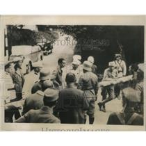 1934 Press Photo Austrian and Jugoslavian troops routing the Nazis - ney23432