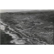 1958 Press Photo Aerial view of part of the Miracle Miles coastline - oro05906