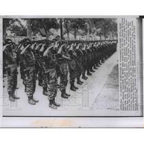 1963 Wire Photo Vietnamese marines armed with submachine guns in Saigon