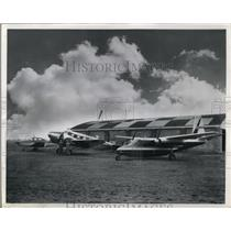 1958 Press Photo Rynel Gears fleet of five aircraft for sales and engineering
