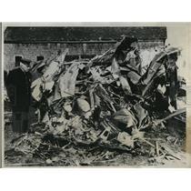 1933 Press Photo Stinson Cabin Plane Crash Near Westboro Massachusetts