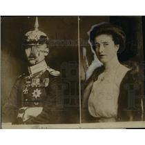 1914 Press Photo Prince Oscar of Germany, Countess Ina Maria Von Bassewitz