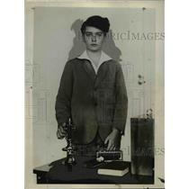 1928 Press Photo Archduke Otto, eldest son of former Empress Zita of Austrai