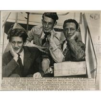 1947 Press Photo Swedish Teenagers, Stowaways on Stockholm Flight to New York