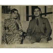 1938 Press Photo Maharajah and Maharanee of Bhaunagar to Visit Harvard & Tech