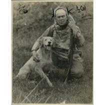 1923 Press Photo Paul Buckley & Dog Spot of Alaska - nef54445