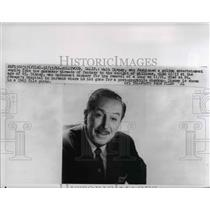 1966 Press Photo Walt Disney Died at Age of 65 from Surgery Complications