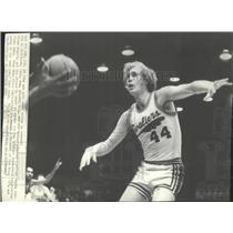 1973 Press Photo Cleveland Cavalier rookie Luke Witte - spx12724