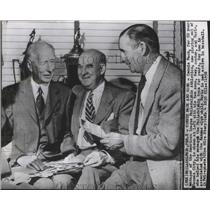 1956 Press Photo Connie Mack manager Philadelphia Eagles with his two sons