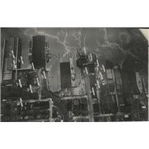 1930 Press Photo Aerial view of the waterfront at Boston, Massachusetts