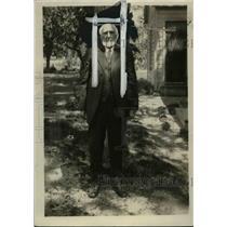 1928 Press Photo Hans Peter Larsen  of Mendon, Utah - nef40019