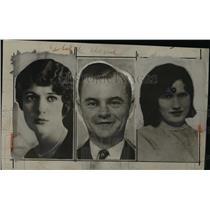 1929 Press Photo Emma Van, Earl Rauden, Zellah Rauden of Kansas - nef40626