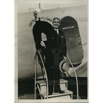 1934 Press Photo Matthew Fardelle WW Veteran of Paterson NY Winner of Contest