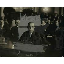 1924 Press Photo J.E. Dyche at Daugherty Investigating Committee Hearing