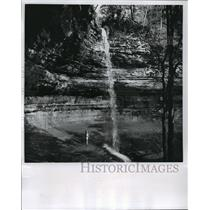 1867 Press Photo Miner's Falls, Pictured Rocks National Lakeshore Lake Superior