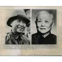 1949 Press Photo Communist leader Mao Tse-tung & envoy Shao Li-tze - nep01897