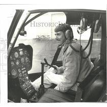1988 Press Photo Michael K Moffitt, helicopter pilot - oro19207