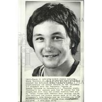 1975 Press Photo Bryan Trottier of New York Islanders National Hockey League