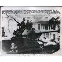 1960 Press Photo Forces of Gen Nosavan in Tank After Winning Battle With