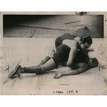 1922 Press Photo Augustine Messa Blind Wrestler Columbia University Blinded As