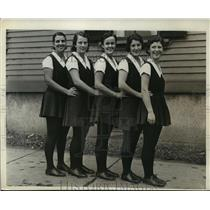 1931 Press Photo Sargent School Students at Freshman Intersectional Gymnast Meet