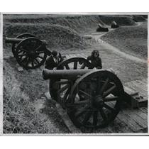 1955 Press Photo Artillery in Virginia Used by Washington to Defeat the British