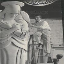 1926 Press Photo Enrico Licari Denver Sculptor - RRY27815