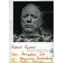 1884 Press Photo Robert Ramer, head of Pacemaker Industries - spa37438