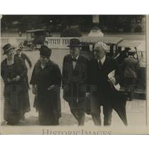 1919 Press Photo Wilson, Rowland B. Mahaney, arrive for round table opening