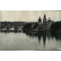 1914 Press Photo City Hall in Prague - The Beautiful Capital of Bohemia