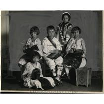 1929 Press Photo Mary Herta, Leontina Culca, Nick Goia, V Milea, S Saghin