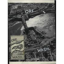 1936 Press Photo Aerial View of Bonneville Dam - spa39678