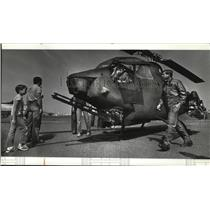 1982 Press Photo Carba Helicopter at Fairchild Air Force Base Open House