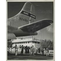 1952 Press Photo Grounded Waiting for Planes to be Refueled of Third War