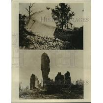 1917 Press Photo France World War I Destruction - ftx01228