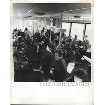 1962 Press Photo Mobile Lounges Transport Travelers to & From Plane at Dulles