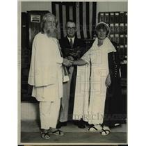 1927 Press Photo John B. Nash marries Chilean Pauline Wainsmark  - ora63008