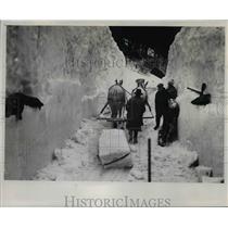 1921 Press Photo Huge Snow storm in Oregon - orb59371